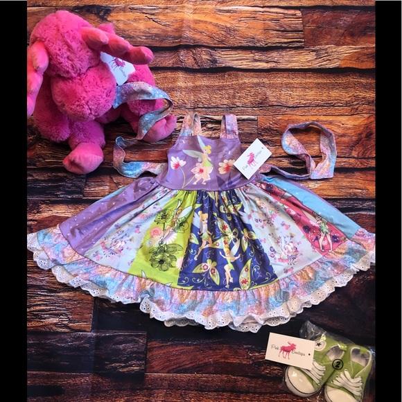 Tinkerbell Peter Pan Girls Boutique Twirl Dress